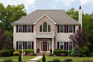 Custom Home front balcony suburb
