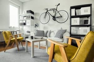 Yellow Chairs in Modern Living Room