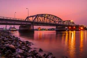 Trenton NJ Bridge at Sunset