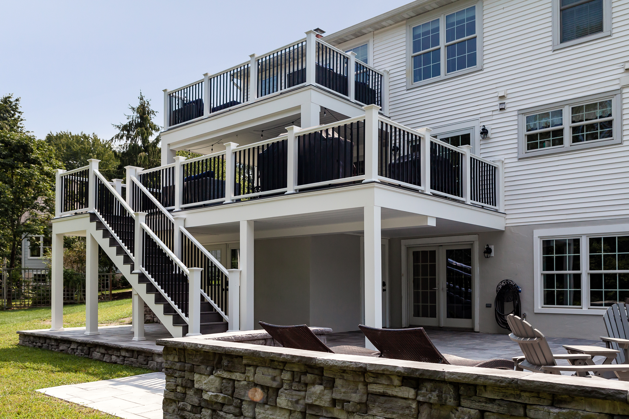 Yardley pa two-tier deck